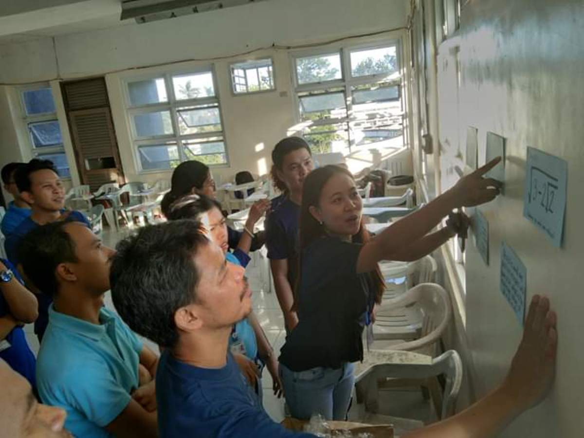 PhDMathEd students as they participate in the activities