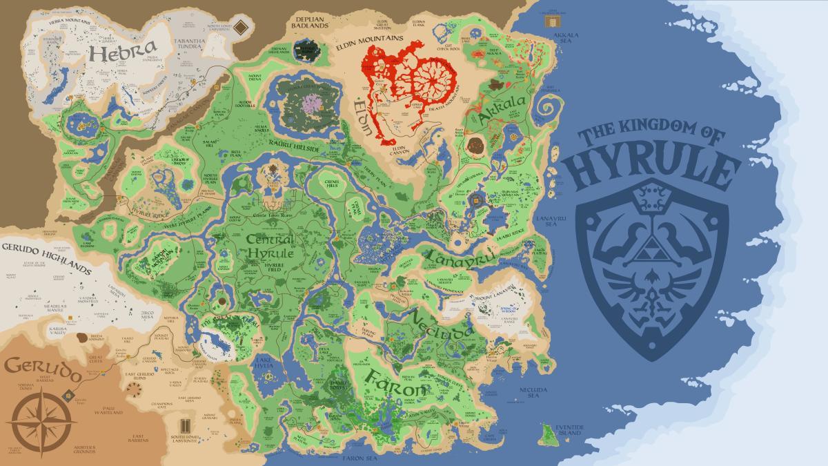 The vast land of Hyrule