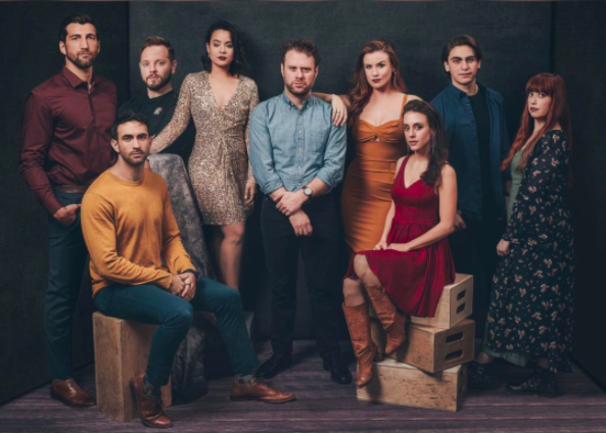 """The cast of """"Starry,"""" staring Dylan Saunders (middle) as Vincent van Gogh"""