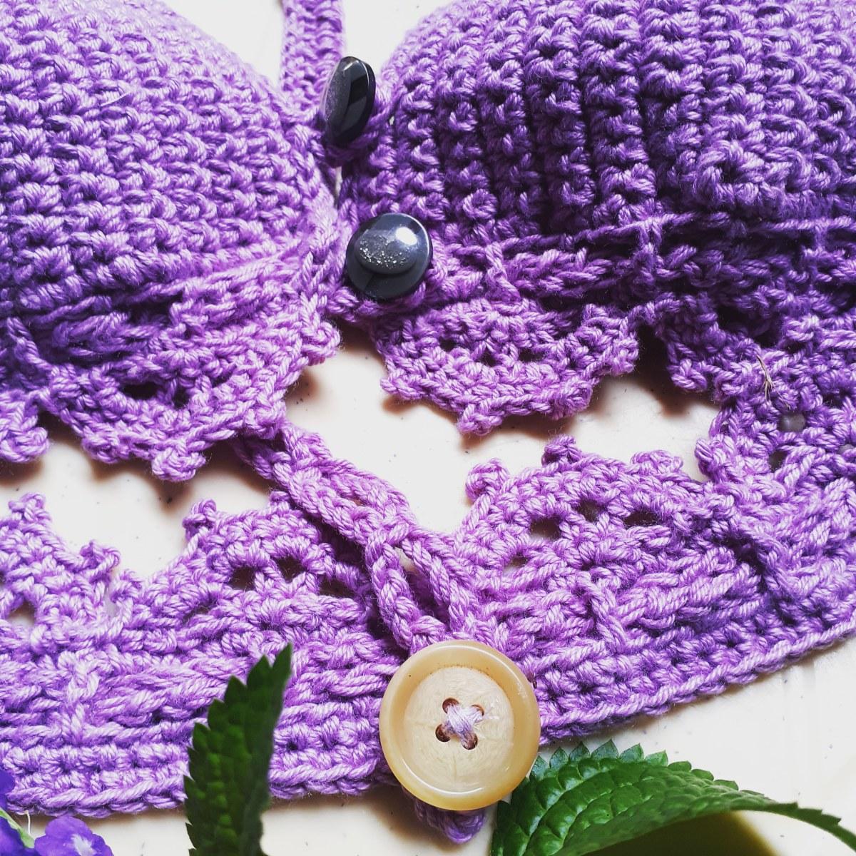 No-Knots Adjustable Front Closure Crochet Bra
