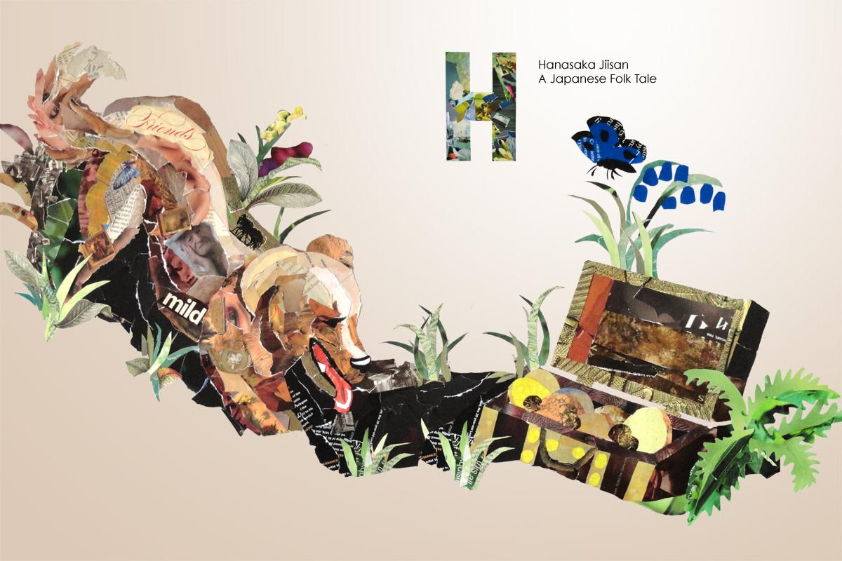 Illustration for Hanasaka Jiisan, A Japanese Fairy Tale