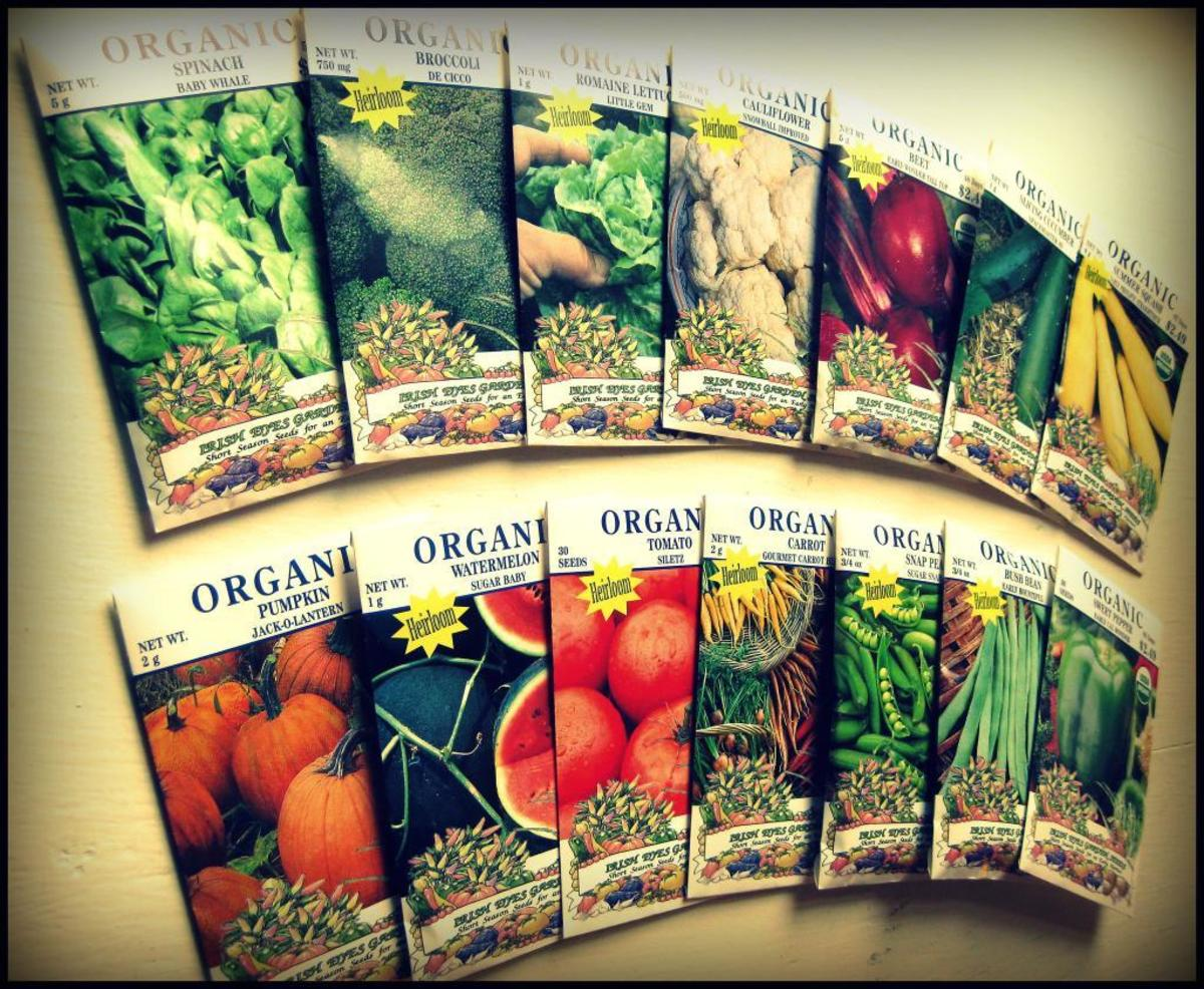 Check your seed packets for planting and harvesting information.