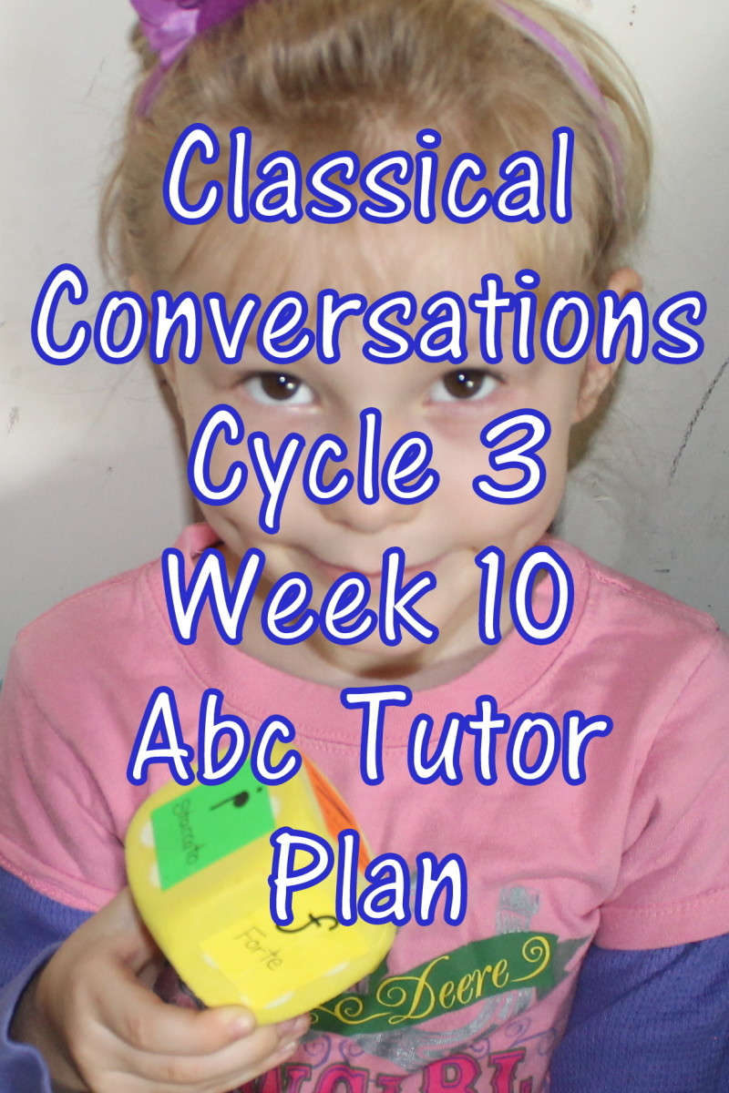 Classical Conversations CC Cycle 3 Week 10 Lesson for Abecedarians - CC C3W10