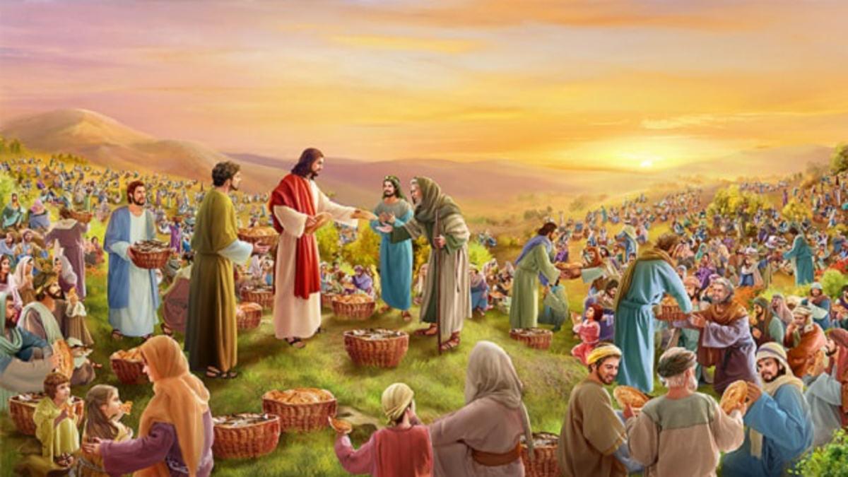 Jesus fed the crowd