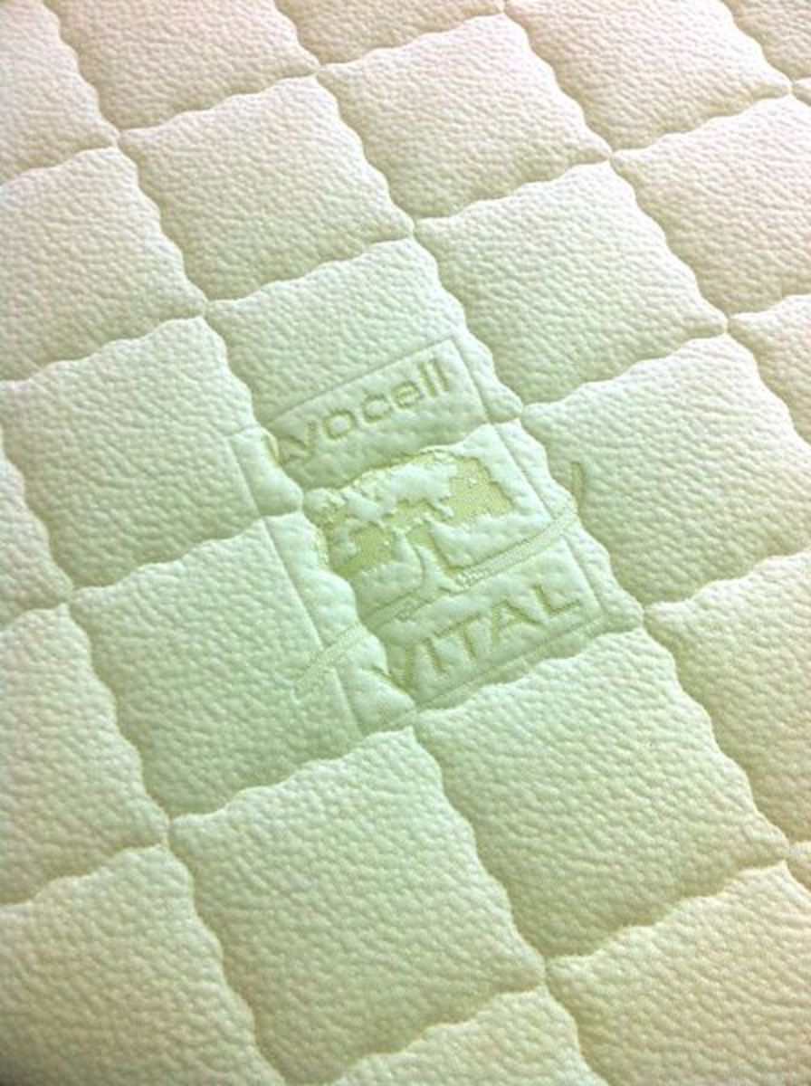Mattress with lyocell as cover material.