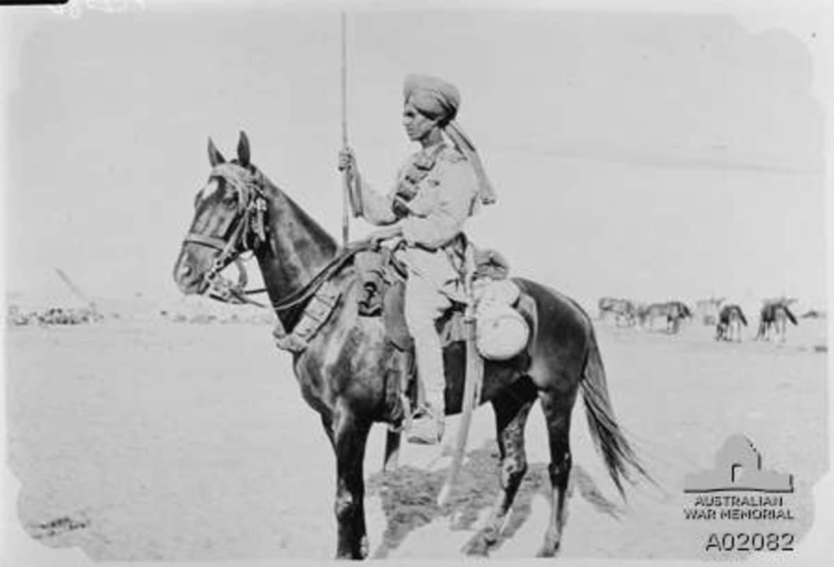 Photo of a Mysore Lancer,1918