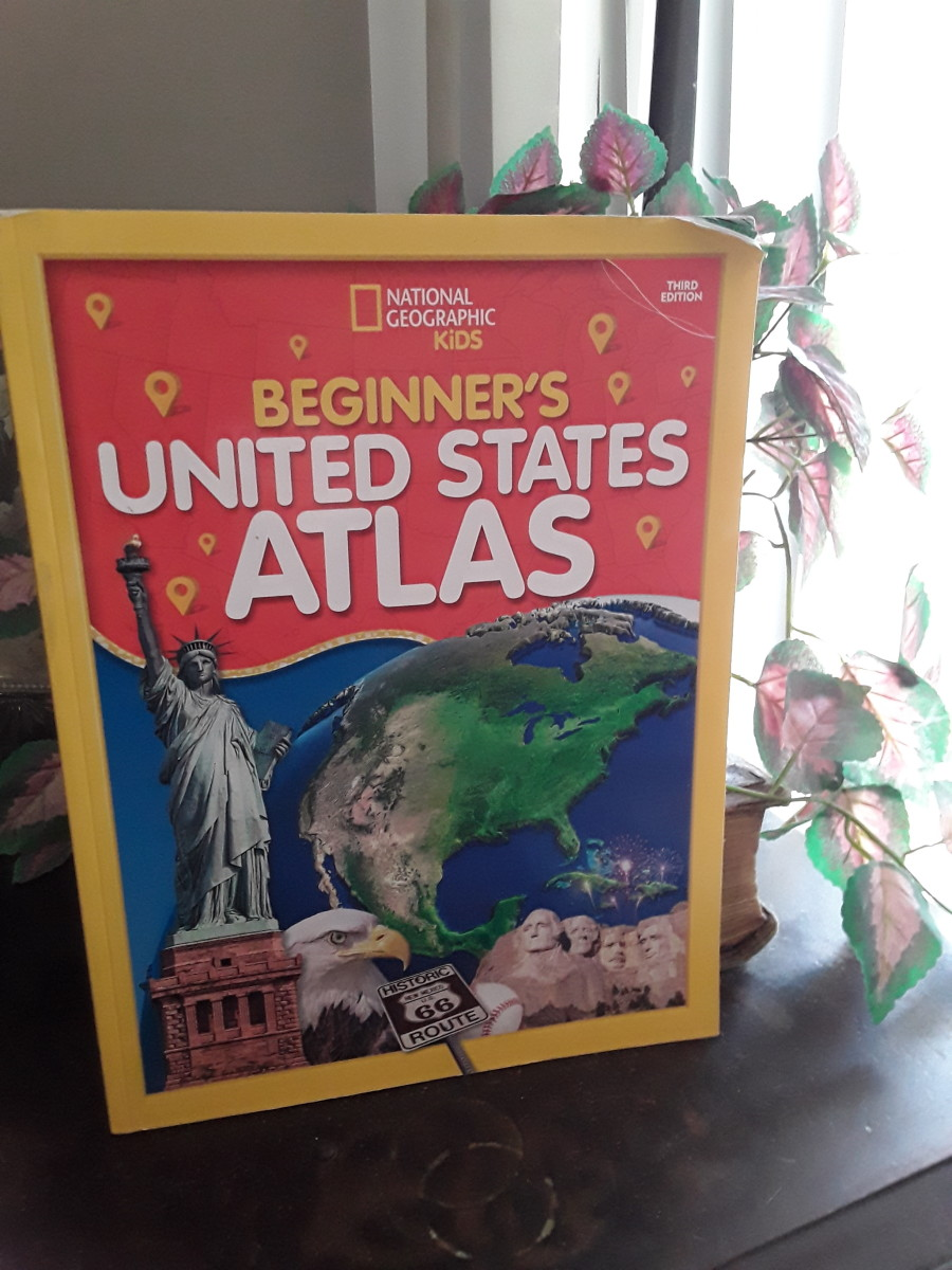 Beginners Atlas with large maps and fun facts