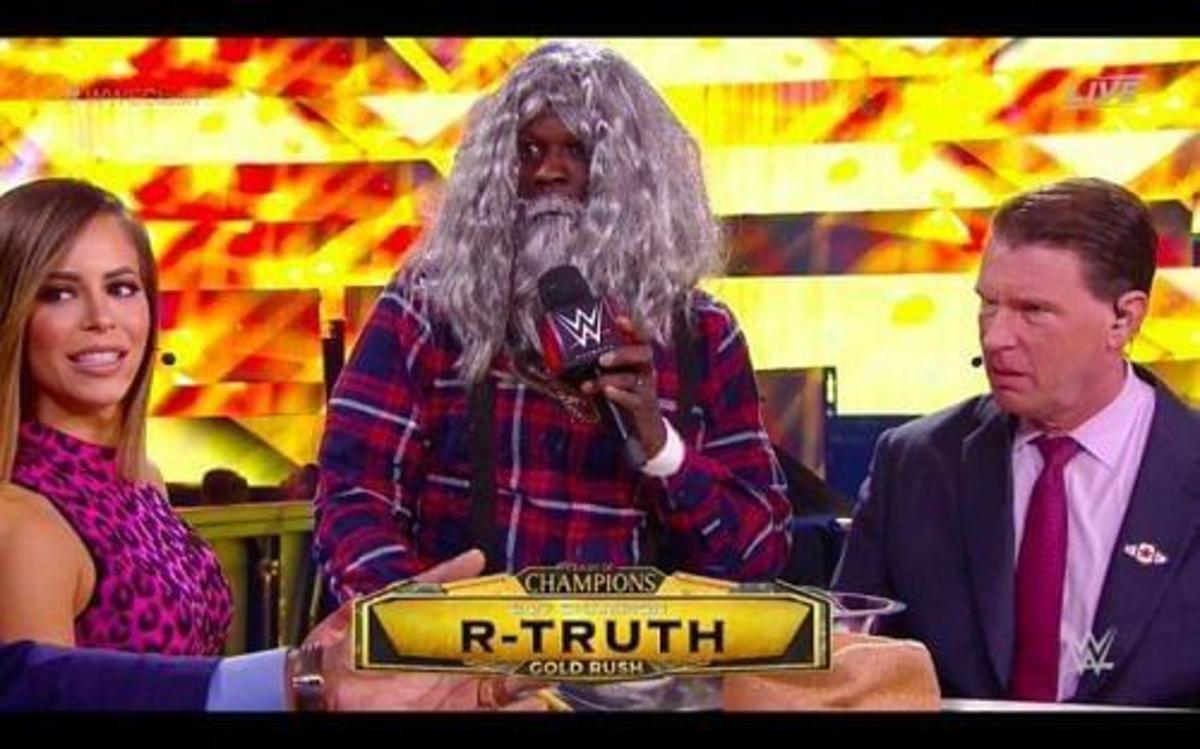 R-Truth during an interview.