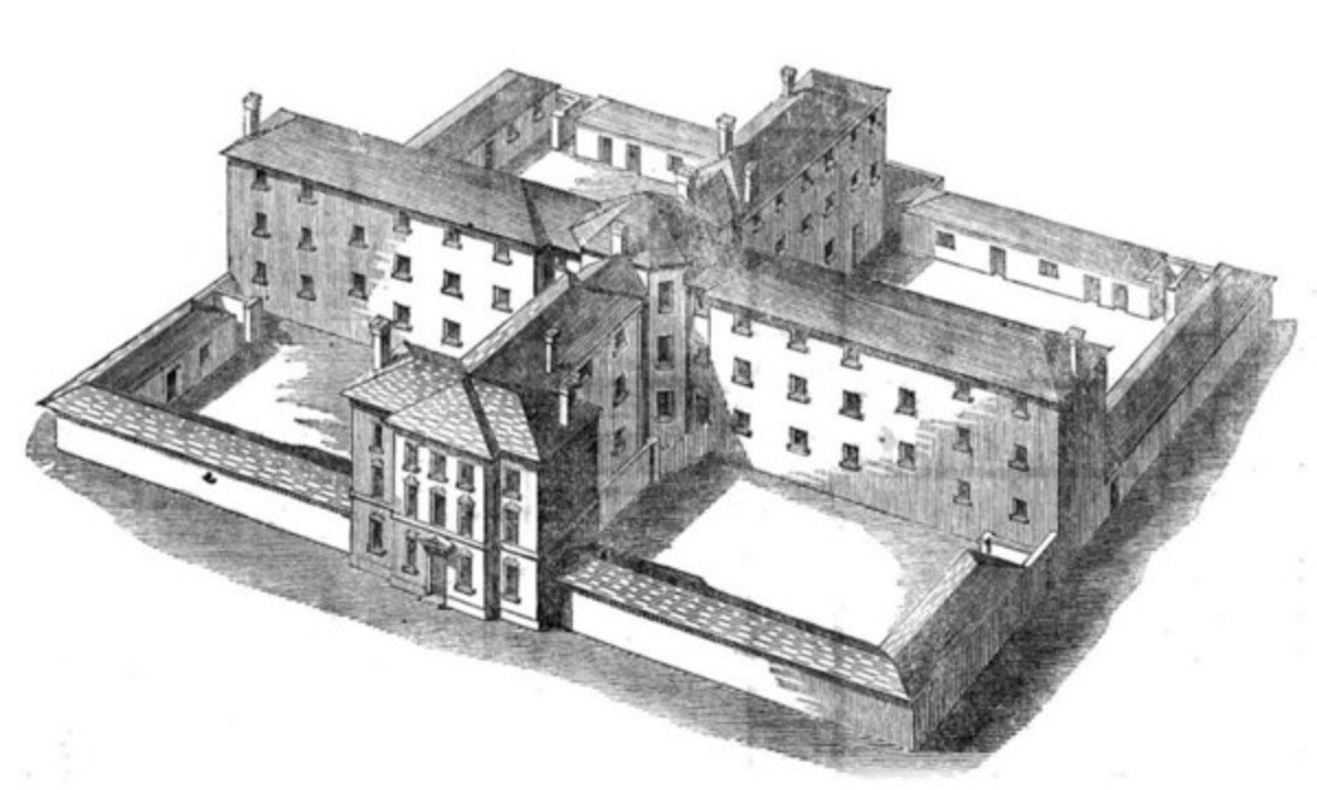 Sampson Kempthorne's cruciform design for a workhouse accommodating 300 paupers