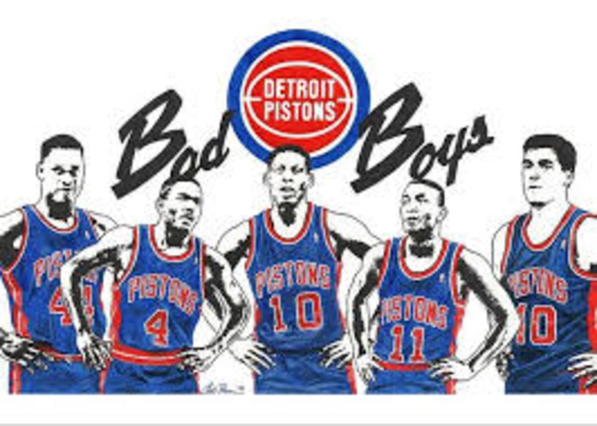 Rick Mahorn, Joe Dumars, Dennis Rodman, Isiah Thomas, and Bill Laimbeer made the Bad Boys who they were.