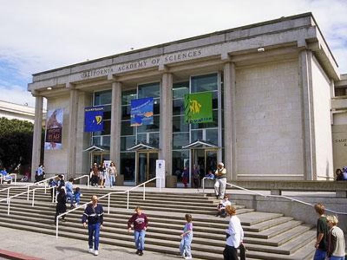 main entrance of California Academy of Sciences