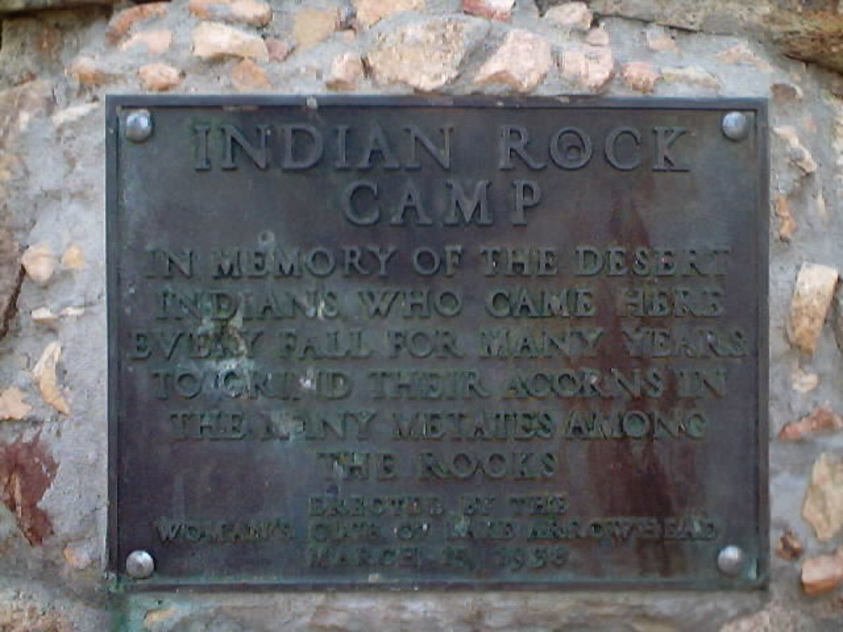 Plaque Dedicated to the Indian Rock Camp.  I took this picture in 2002.