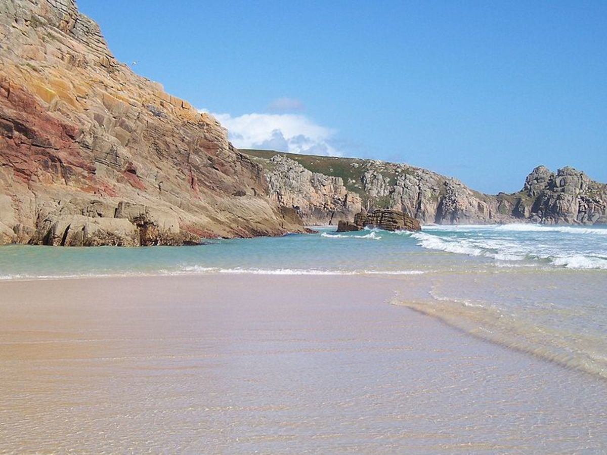 Cornish beaches are often stunning, with a combination of rugged cliffs, fine sand, and clear water.