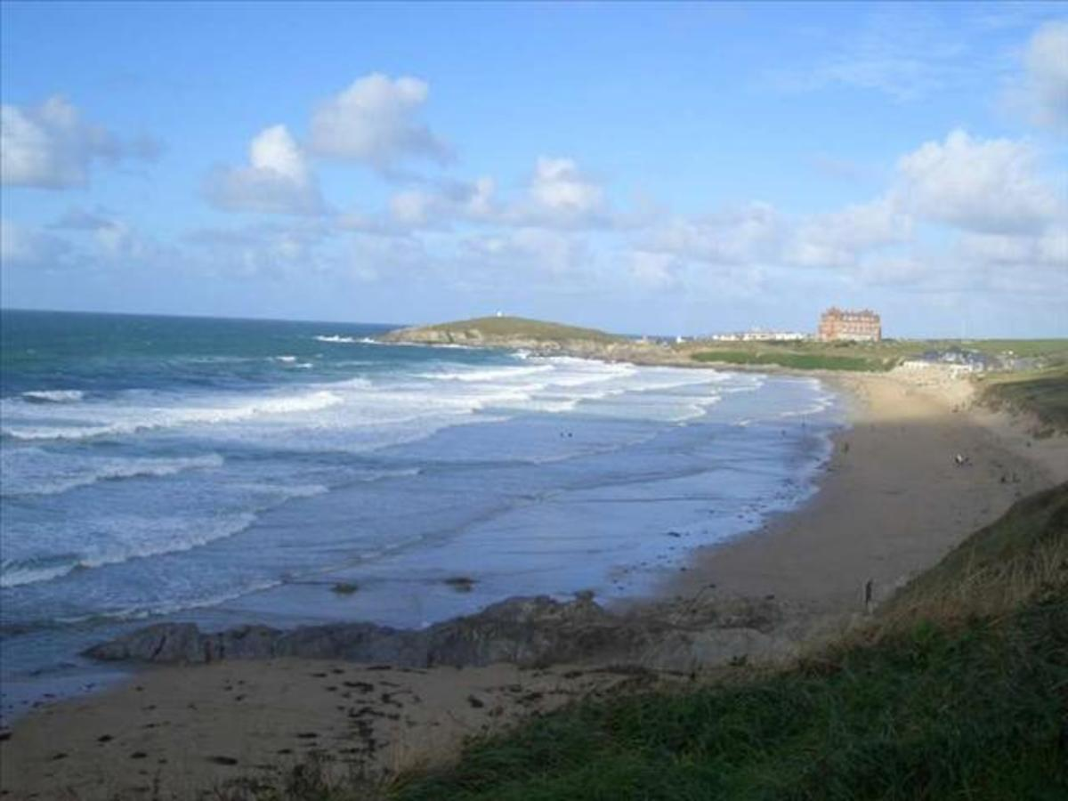 Fistral Beach, looking north.