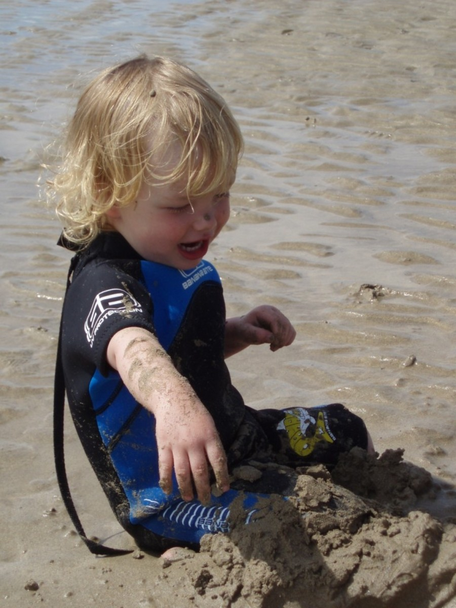 Beaches in Cornwall are fun for those too young to surf, as well!