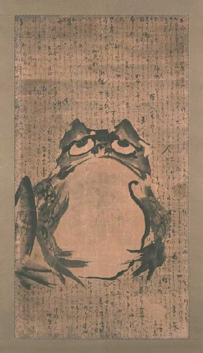 Frog in Japanese Painting