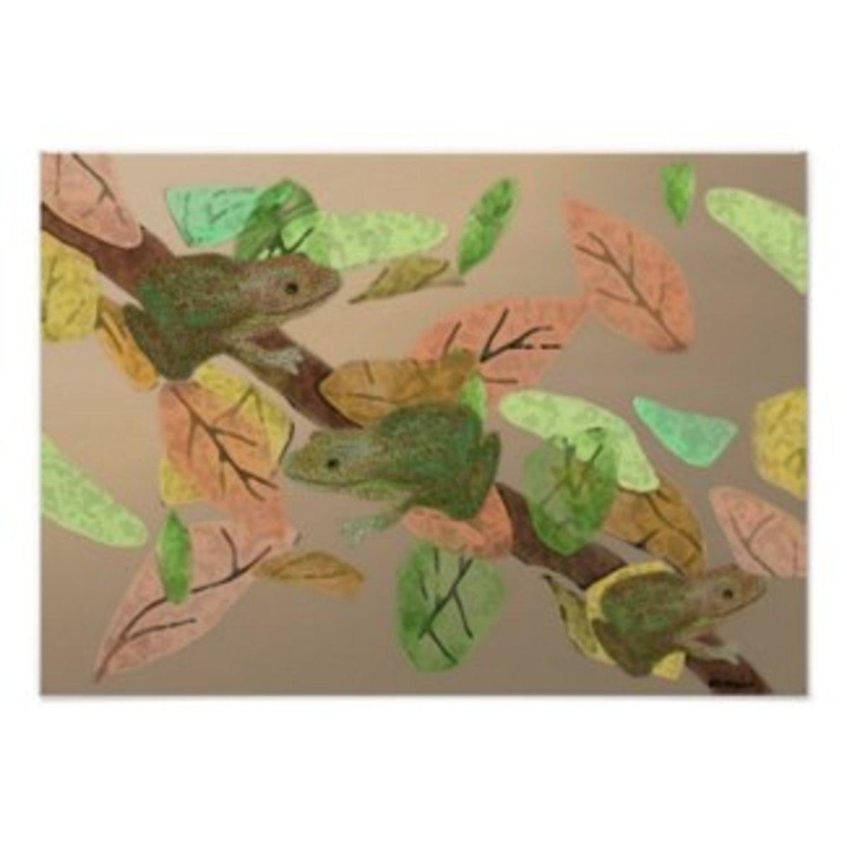 Frog Habitat Print