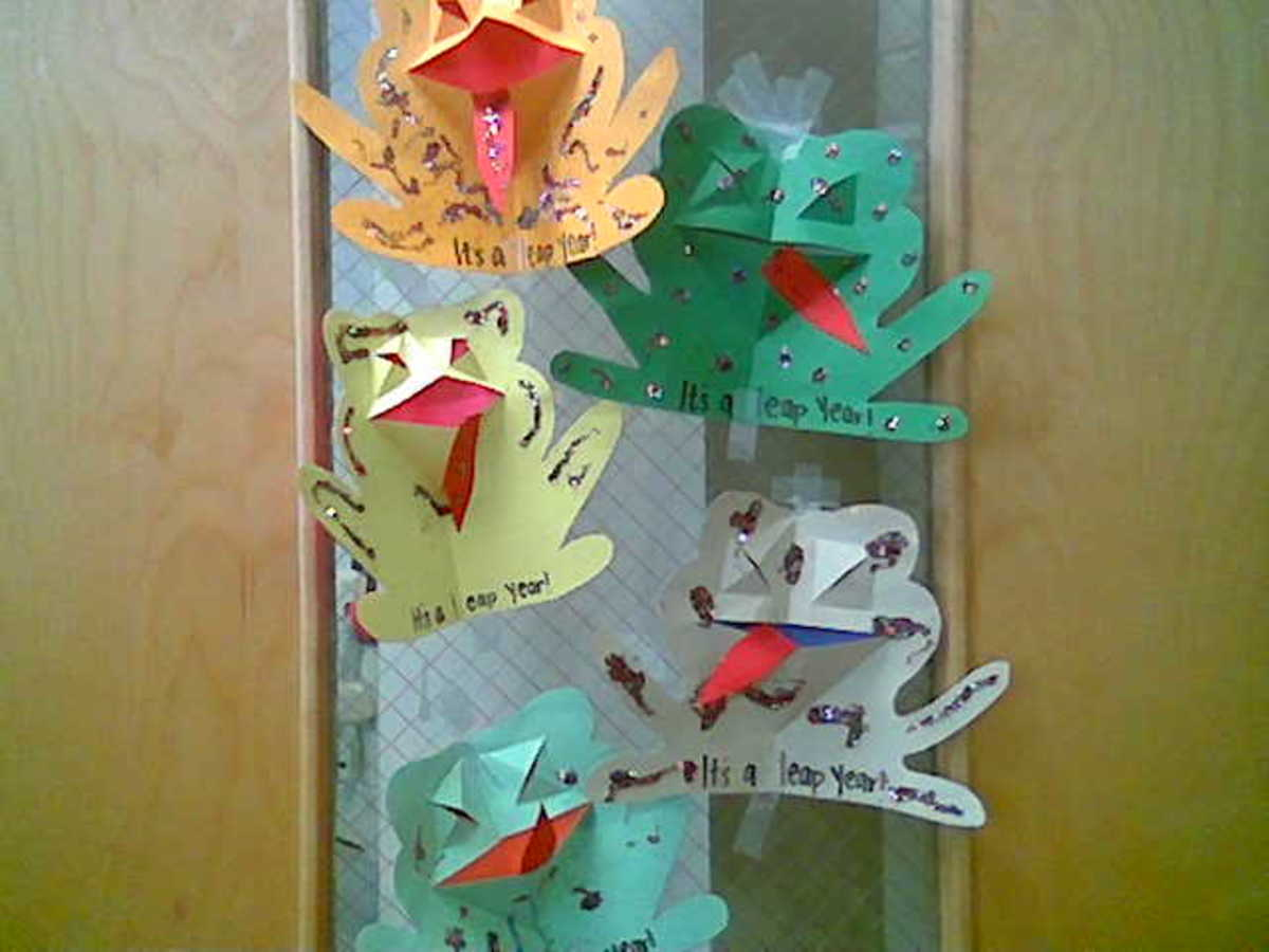 Pop-up Leap Year Frog Cards