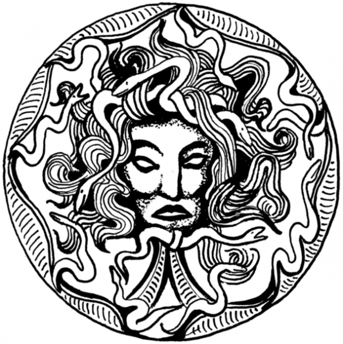 Medusa free coloring page