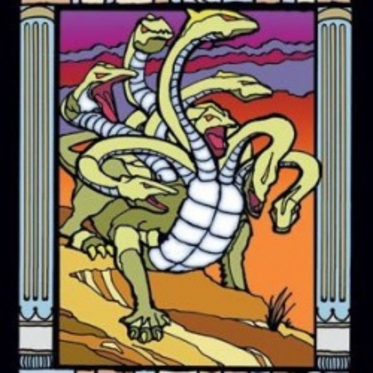 Mythological Creatures Stained Glass Coloring Book (Dover)