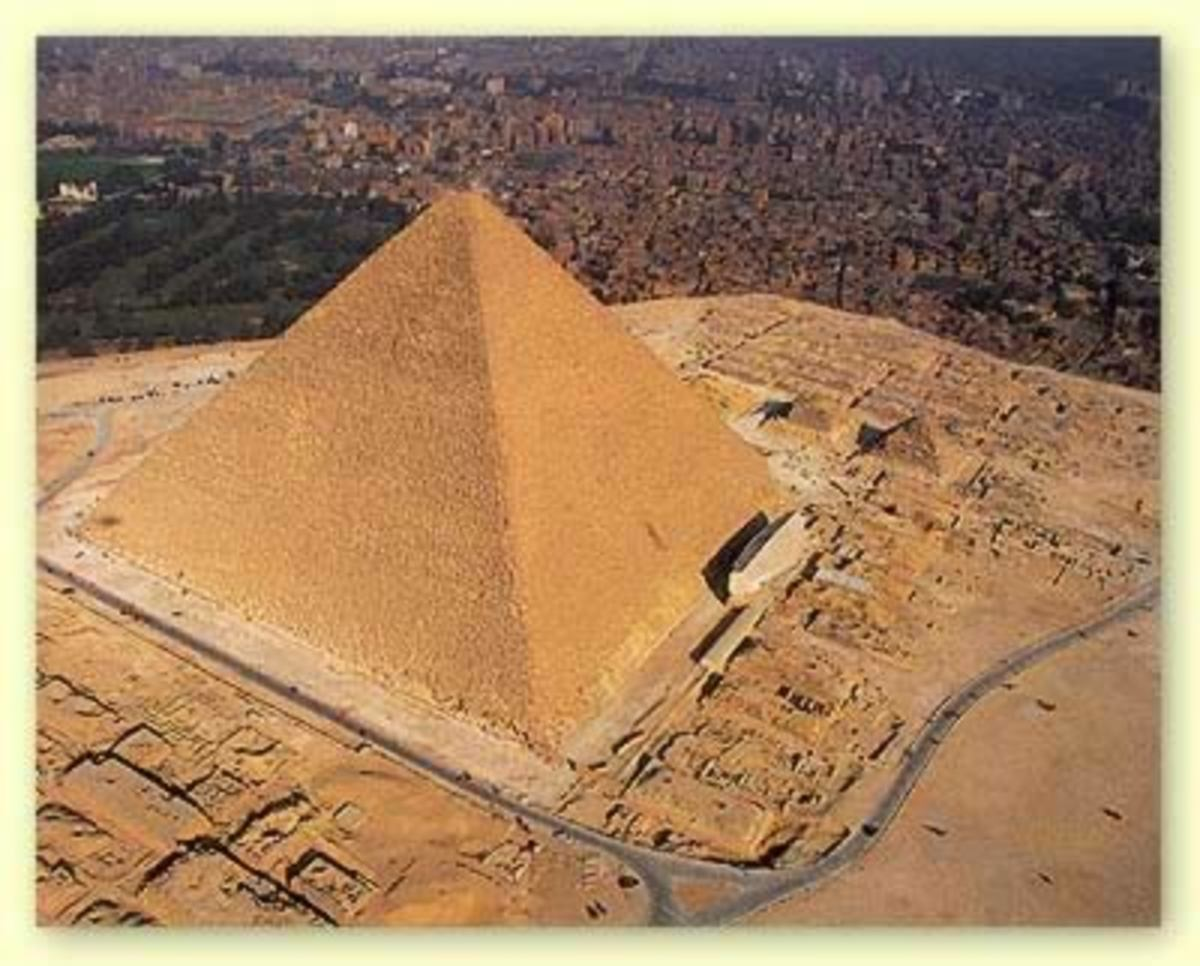 The Great Pyramid instead of using a golden rectangle, the Pyramid uses what is called a Golden Triangle.