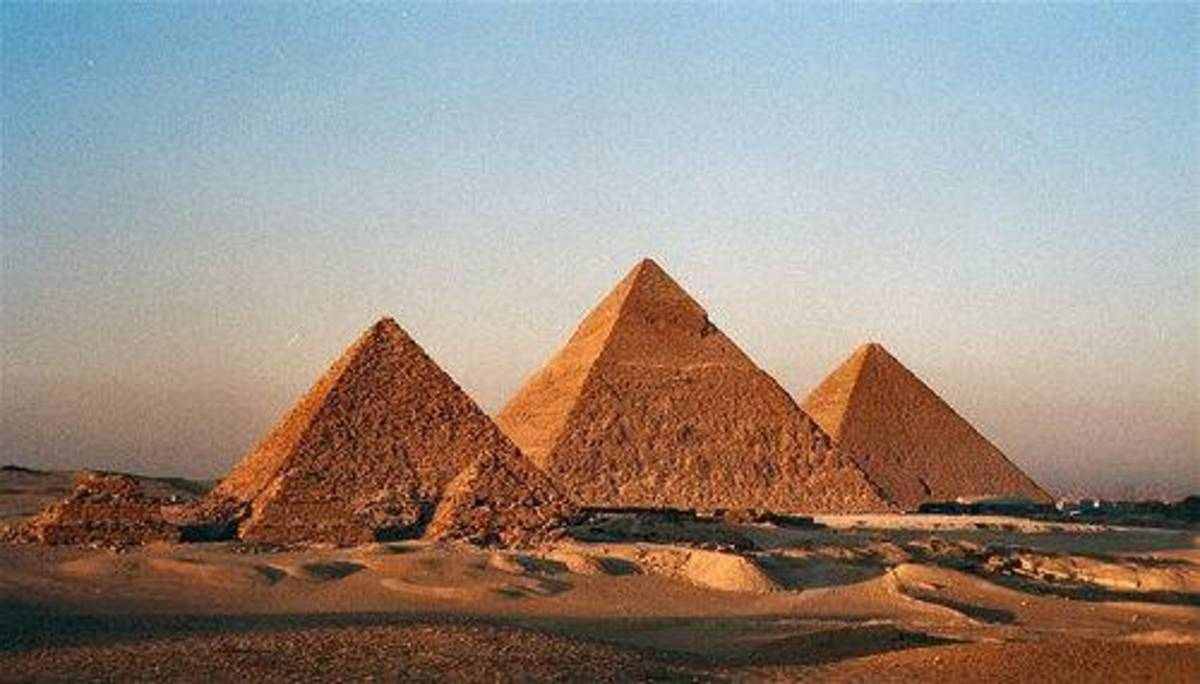 The Three pyramids of Giza, and these were commissioned by the pharaohs of the 4th Dynasty #14 photo