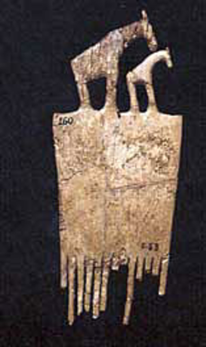 An extraordinary ivory comb from Hierakonpolis, Egypt and can be seen in the new Nubia Museum in Aswan #4 Photo