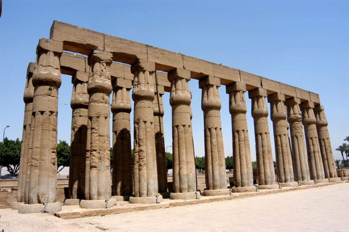 Papyrus Columns, in Egypt #13 photo