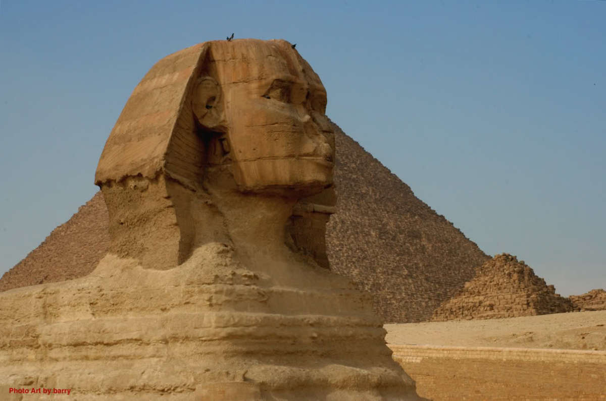 The Sphinx, close-up.
