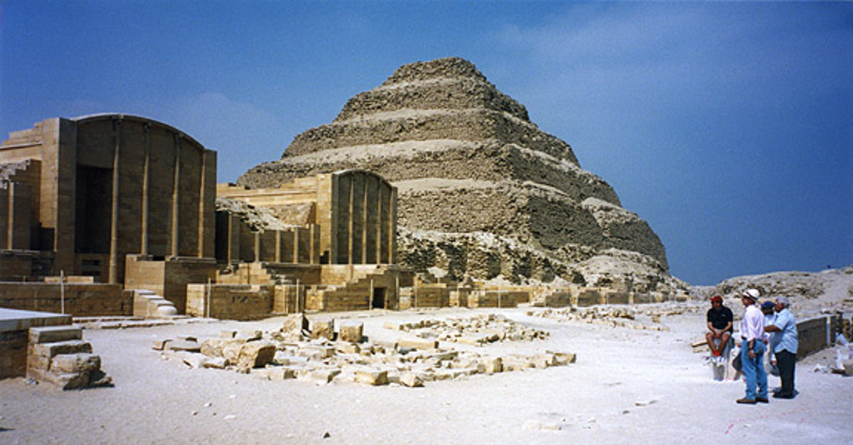 Funerary Complex and the Step Pyramid of Zoser(Djoser) This was built by Vizier Imhotep and is the first Monumental structure to be constructed entirely of carved stone. #9 photo