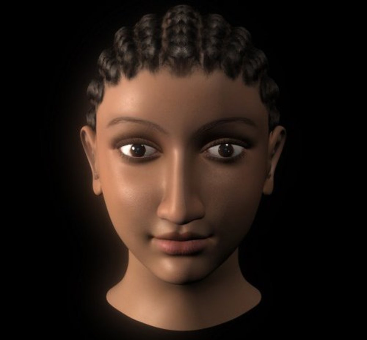 This is a rough estimation of how Cleopatra looked from the coin, artifact and wall depiction of her. She was of African ancestry.