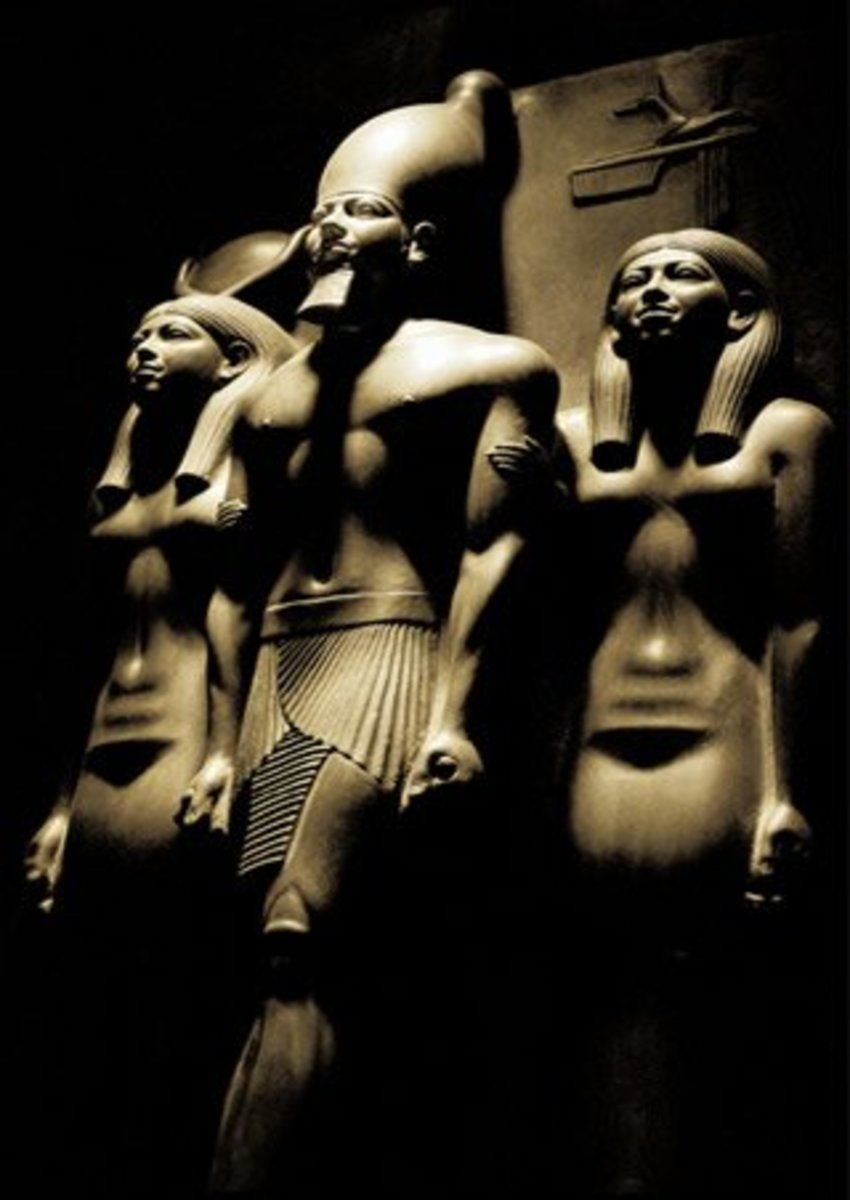 Photography Poster: Menkaura reigned for 63 years during the IV Dynasty, which itself lasted for 135 years; the other two Pharaohs to reign during the IV Dynasty being Khufu and Khafra; the remaining Kings had reigns within Menkaura's reign.
