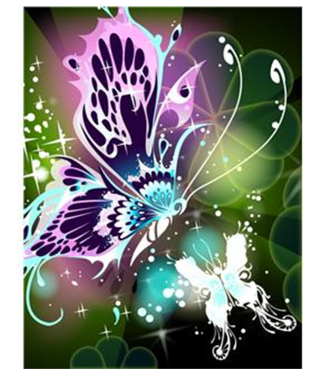 Two Abstract Butterflies