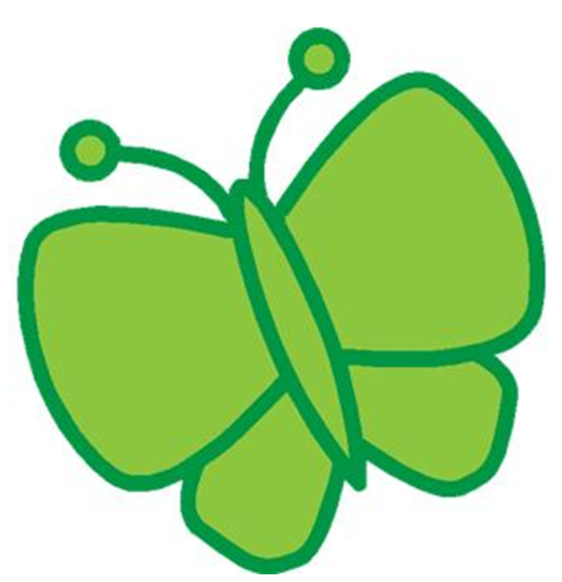 Big Green Clip Art Butterfly