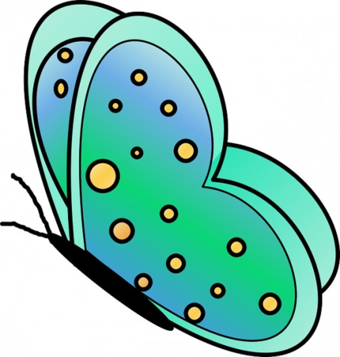Flying Green Butterfly