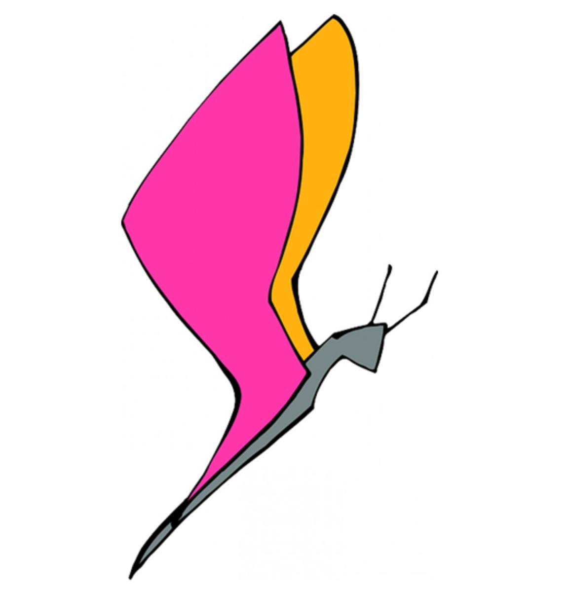 Modern Art Butterfly