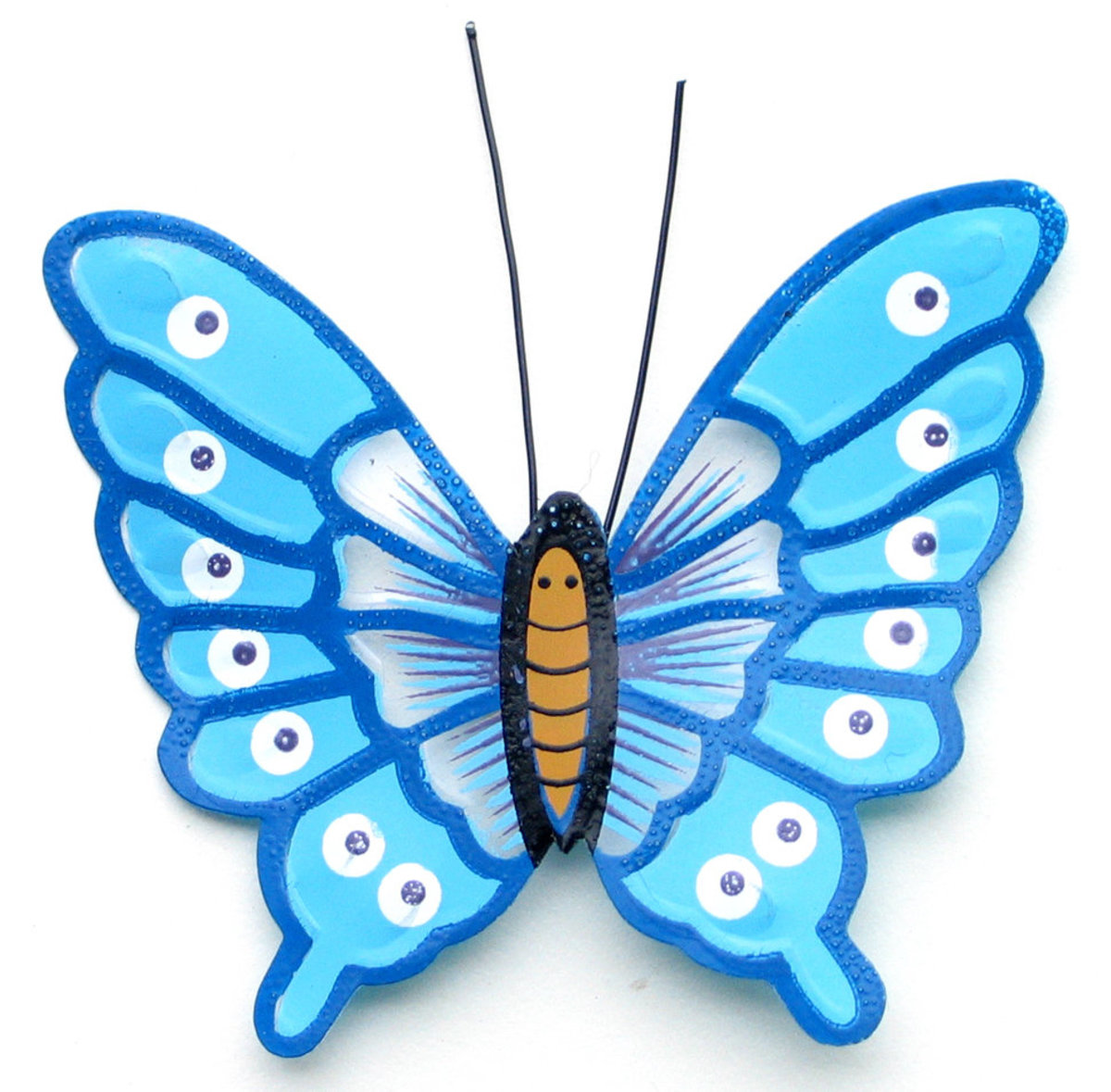 Turquoise Butterfly with Glitter