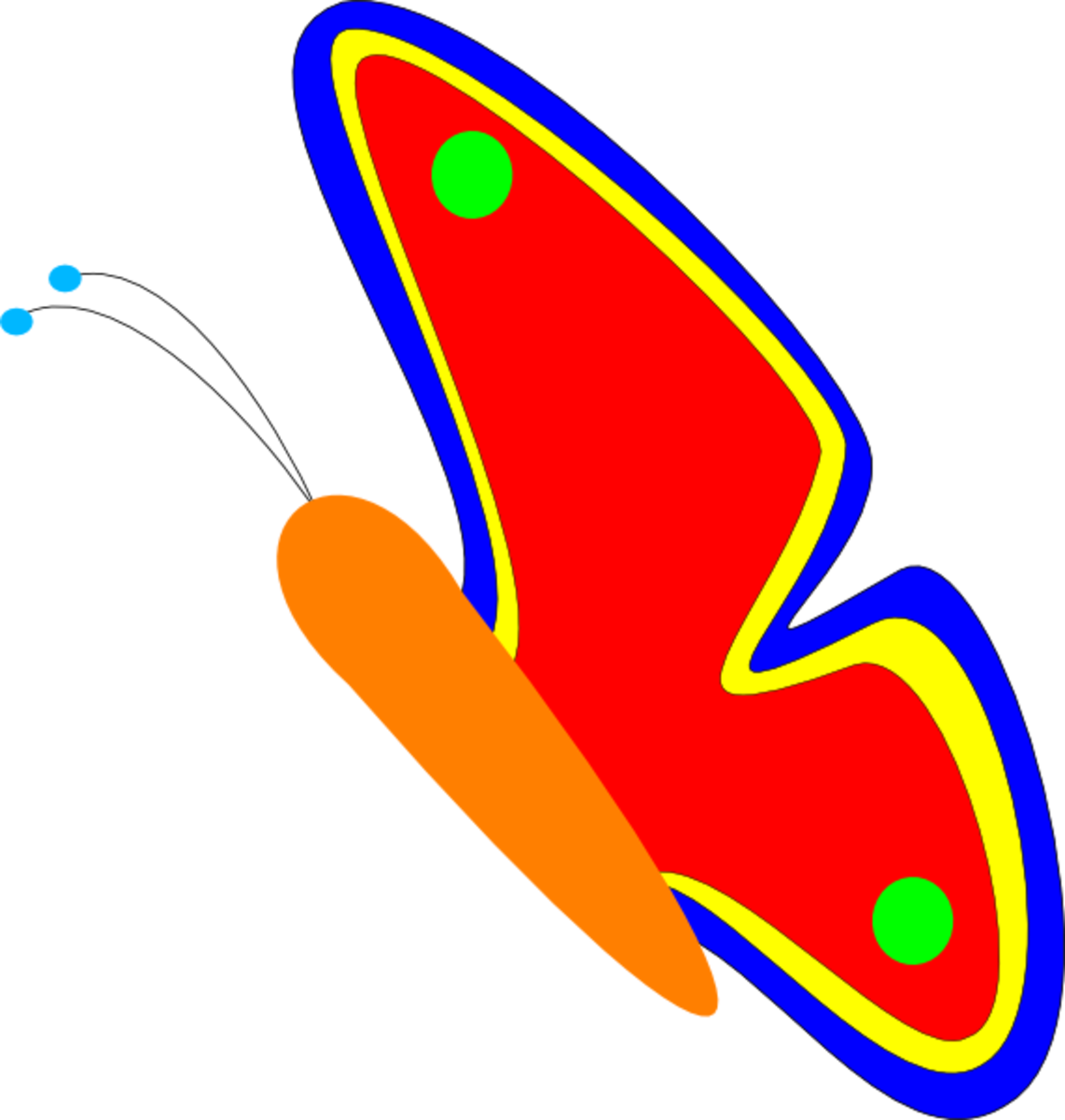 Orange Butterfly with Red Wings