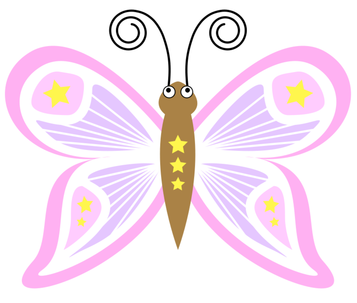 Cute Butterfly with Stars