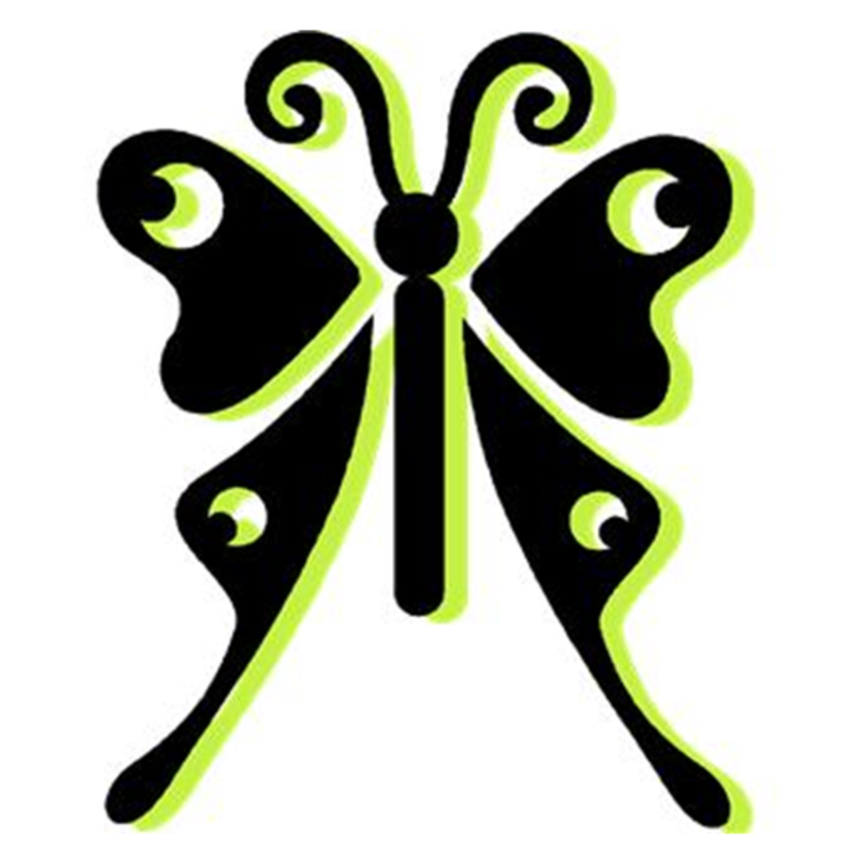 Lime Green and Black Butterfly