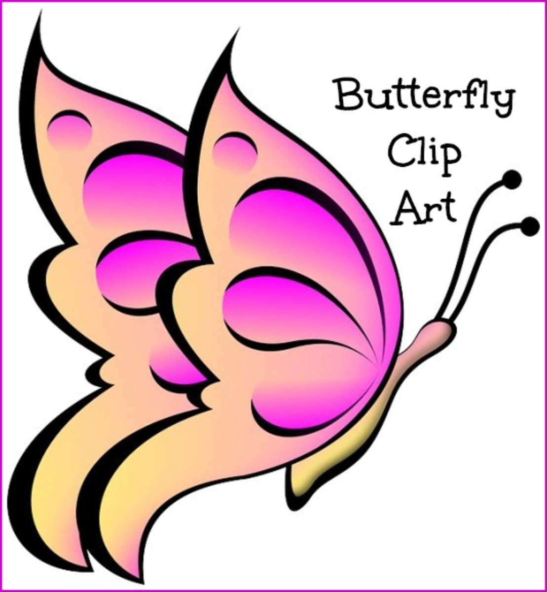 butterfly clip art 170 best free clip art drawings of rh hubpages com best free vector clipart sites best free online clipart site