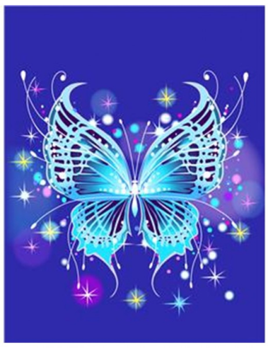 Blue Abstract Butterfly Illustration