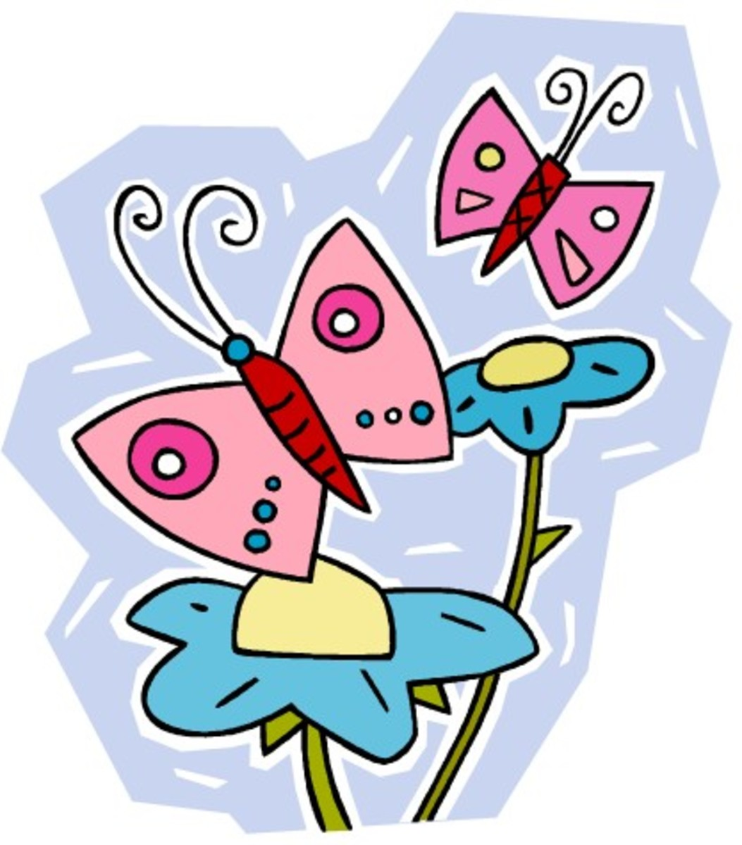 Two Pink Butterflies