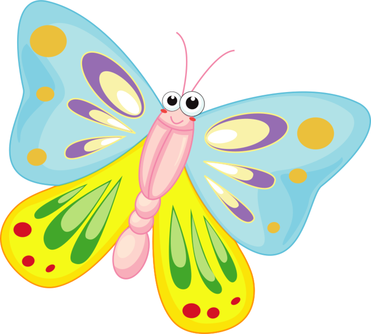 Cartoon Butterfly with Big Eyes