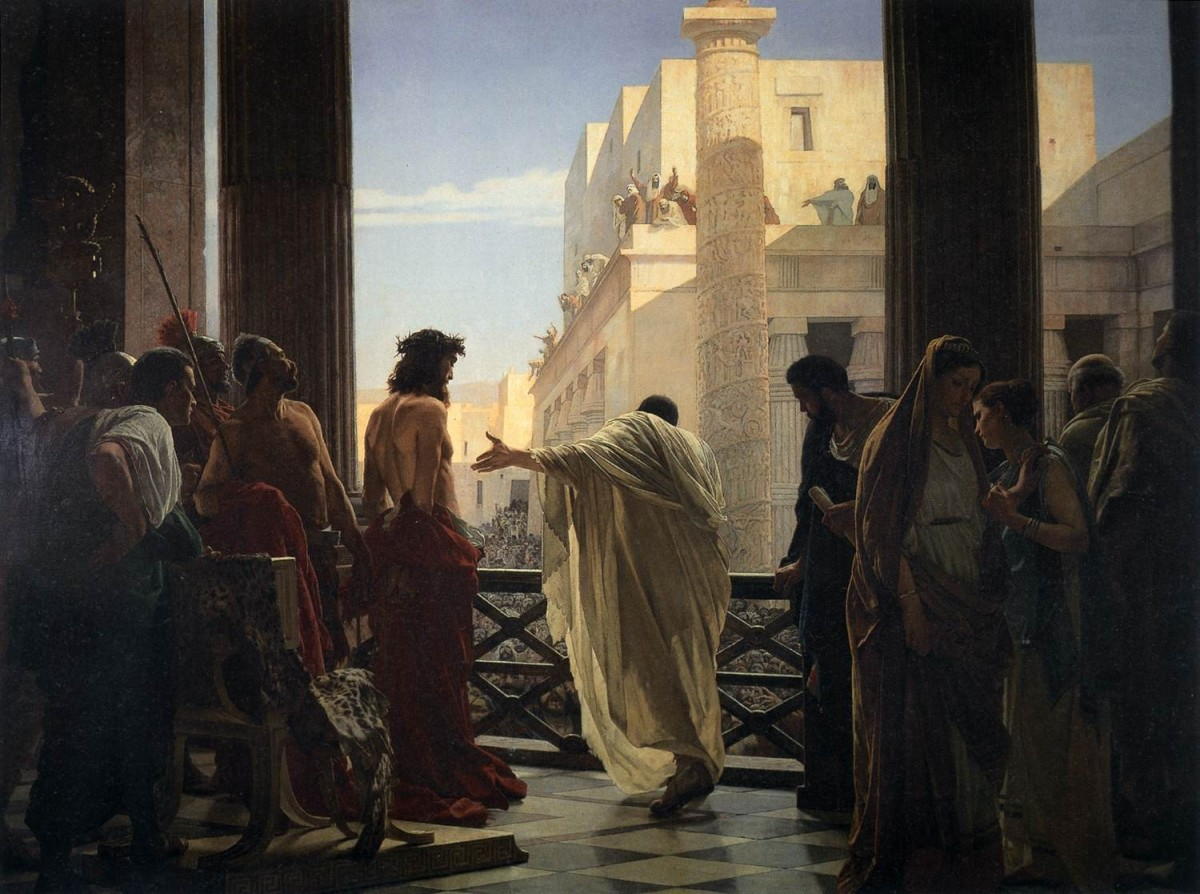 'Behold the Man' by Antonio Ciseri (1871) is the cover art for James A. Watkins first book 'Jesus in the World: The First 600 Years'