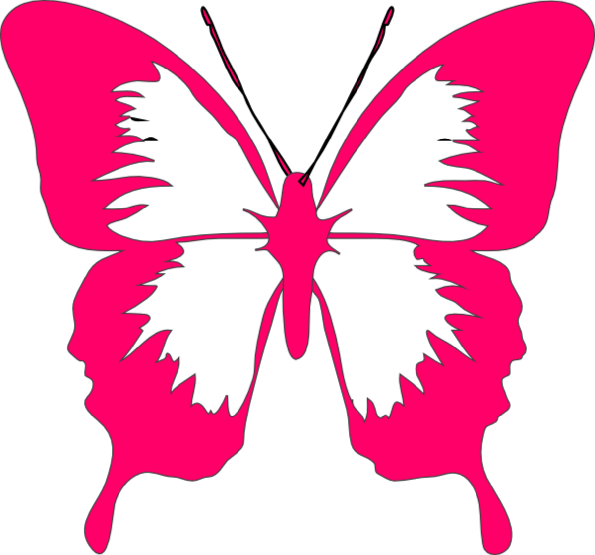 Pink Butterfly Drawing