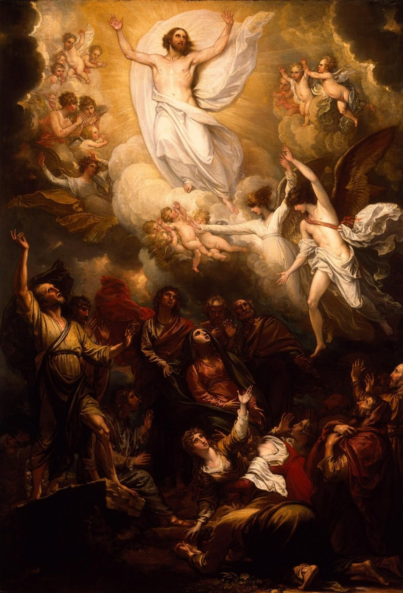 'The Ascension of Christ' by Benjamin West (1801)