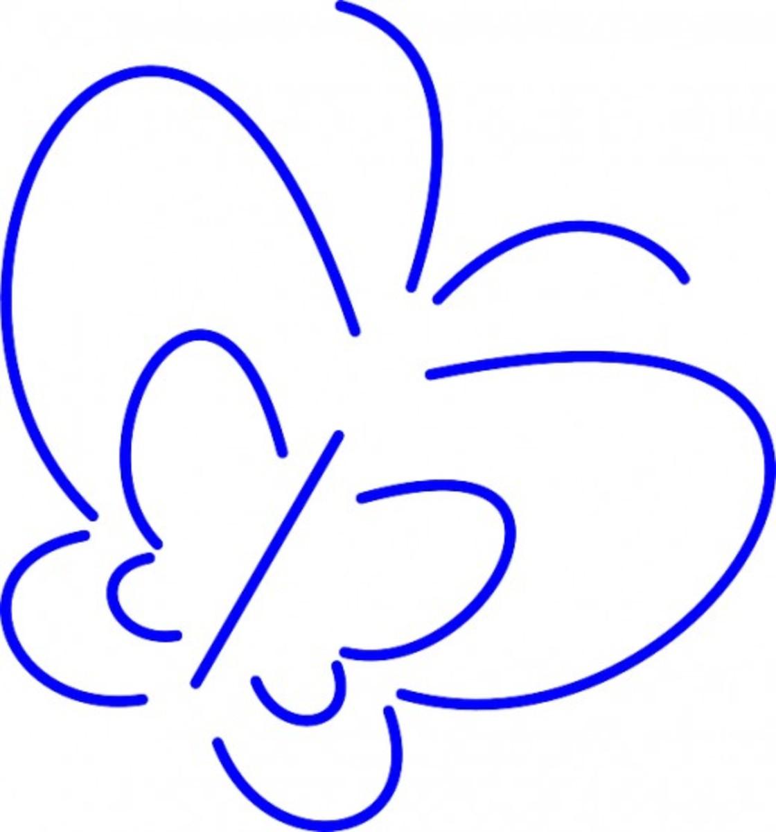 Blue Butterfly Sketch