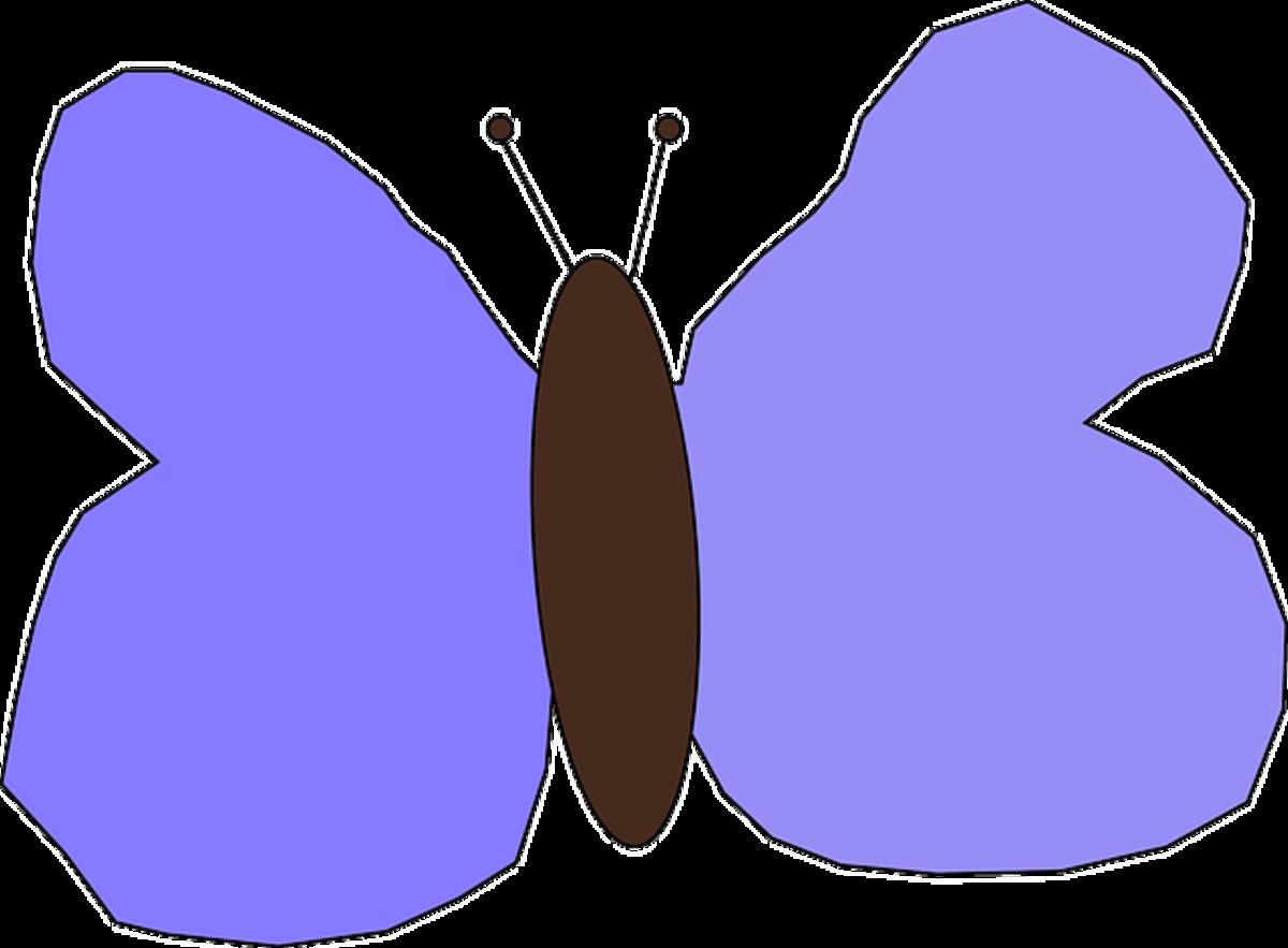 Purple Butterfly Drawing