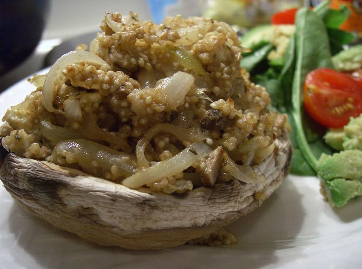 Stuffed mushrooms with spiced quinoa
